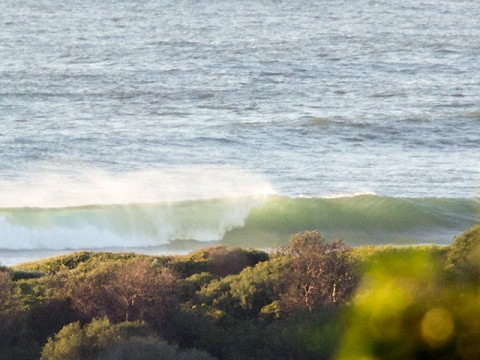 Might want to wait for the swell to drop a little...