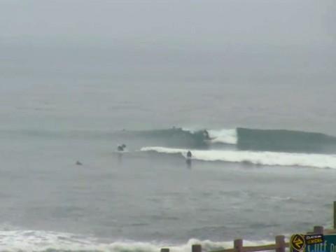 Pleasure Point, Santa Cruz was foggy and small
