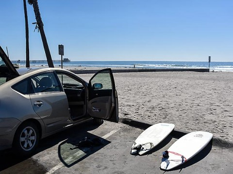 Post-surfing at Oceanside