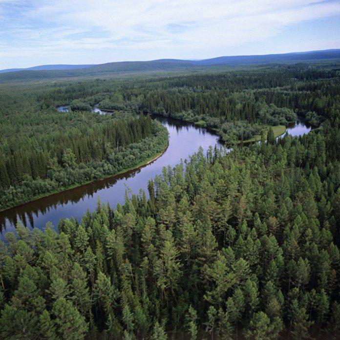 Река Лена у Сибиру