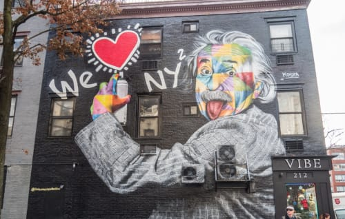 foto care specializes in professional level photographic and lighting equipment. We Love Ny Einstein By Eduardo Kobra Seen At Vibe 212 New York Wescover