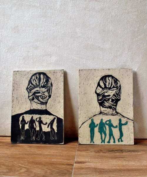 white ceramic tile wall hanging tile by