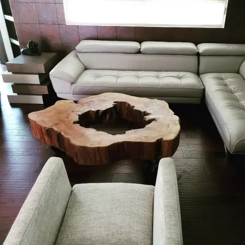 live edge coffee table by once a tree
