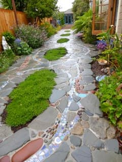 stone and tile driveway by