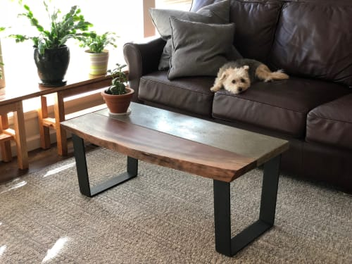 mixed media coffee table by mcintyre