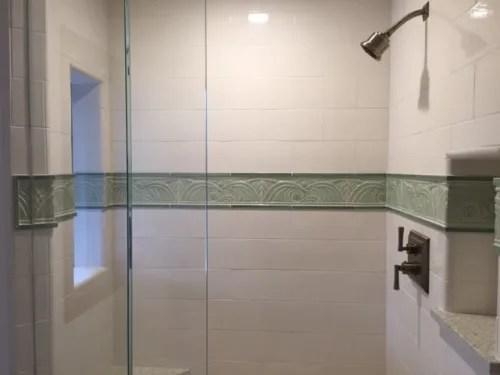 wave tile shower border