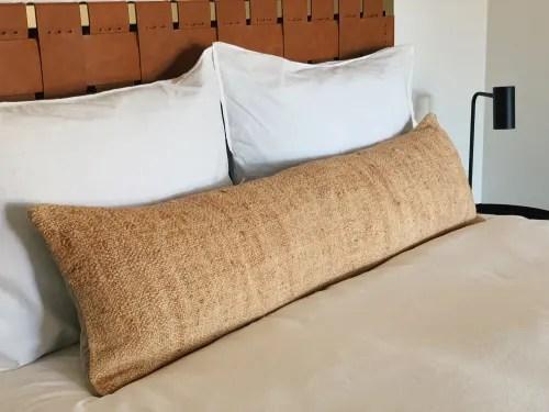 extra long hemp lumbar pillow