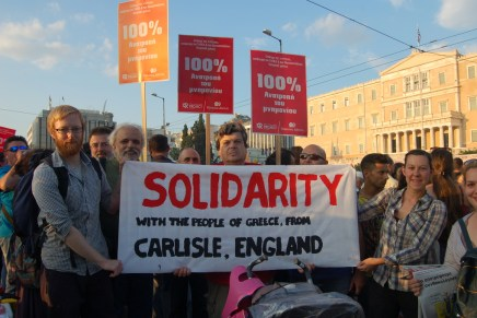 Solidarity from Carlisle to Greece: eyewitness report