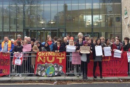 Greenwich teachers celebrate victory!