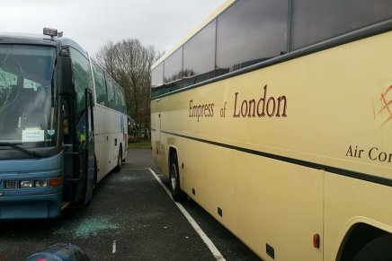 Nazis smash and draw swastika in blood on anti-fascist coaches on way to Dover demo