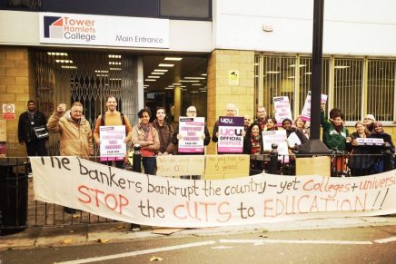 """£1 extra an hour for all"" – UNISON and UCU national FE Strike"