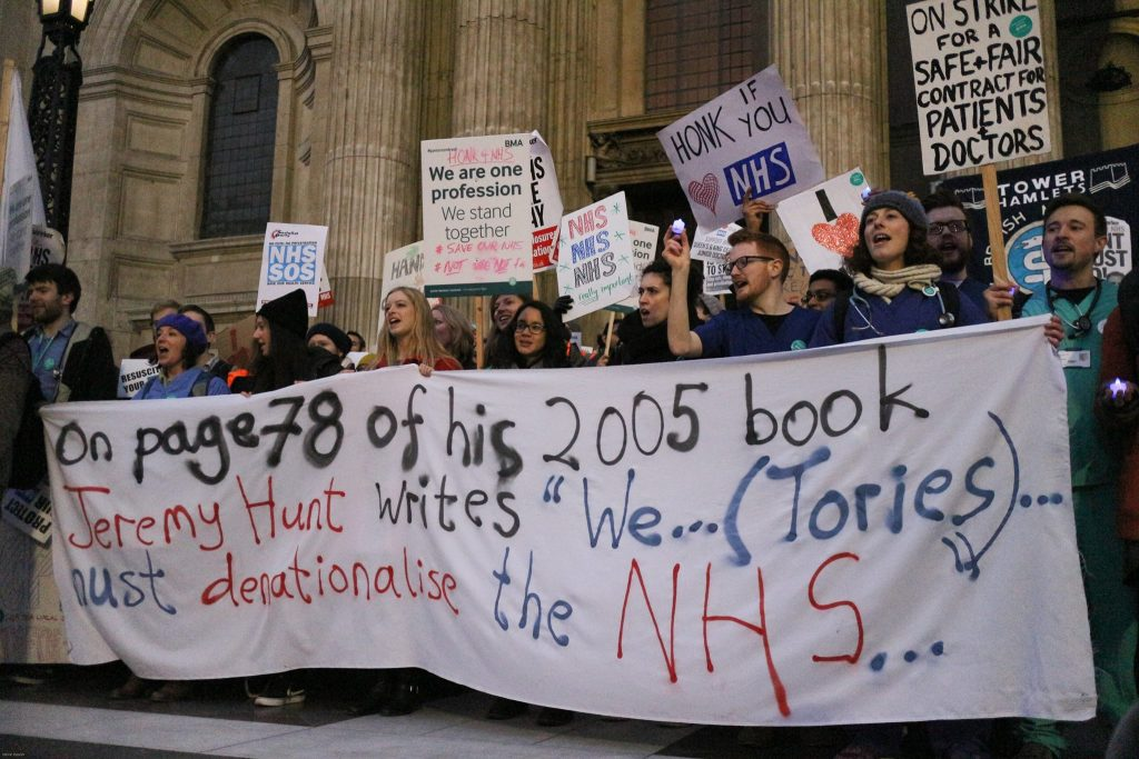 Junior Doctors rally, 10 March 2016. Photo: Steve Eason