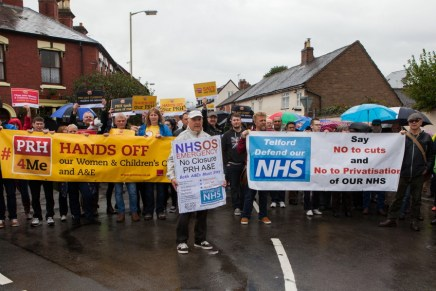 500 march in Wellington, Shropshire to defend the NHS