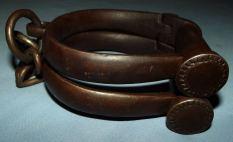 Vintage British Made Hiatt 6 Police Leg Iron Shackles 3