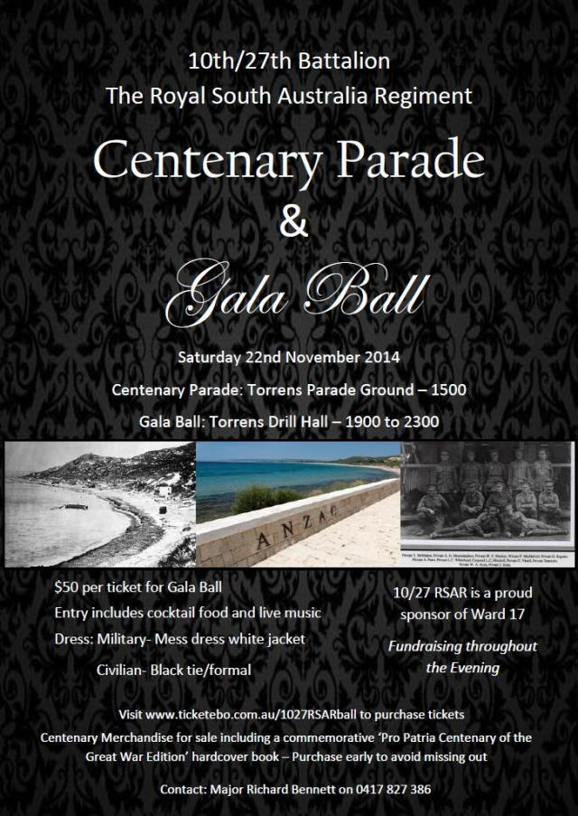 1027 RSAR Flyer Centenary Parade and Gala Ball#2