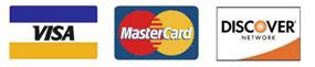 VISA, MasterCard, and Discover