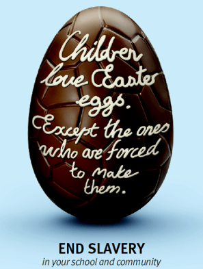 Easter egg with text: Children love Easter eggs, except the ones who are forced to make them.