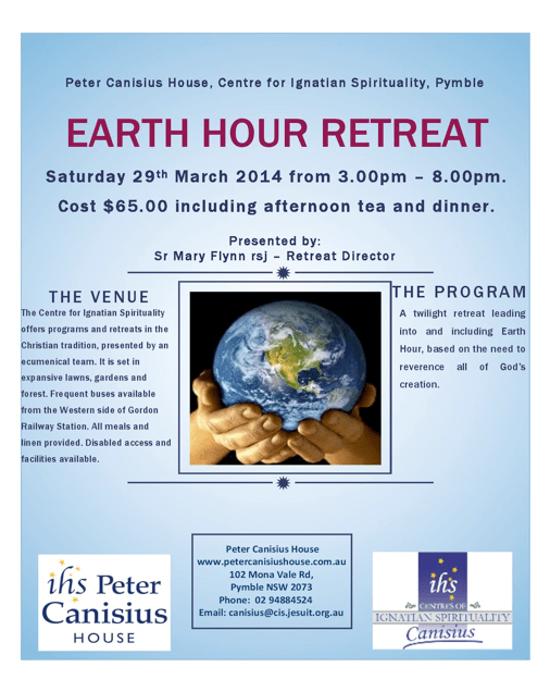 Details of retreat at Peter Canisius House