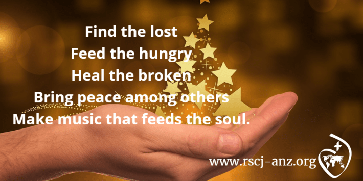 Feed the hungry, find the lost, heal the broken