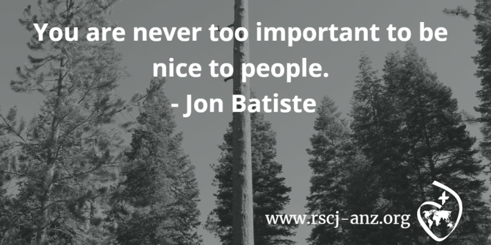 You are never too important to be nice to people.