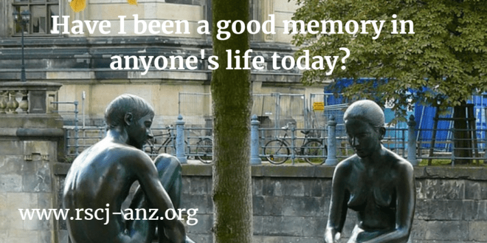 being a good memory in someone's life