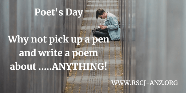 Poet's day, write a poem about anything