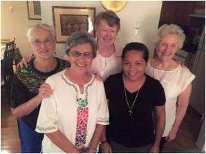 Minha comunidade Irm�s Edith Hart, G��ڙ� Maria, Bea, Eu e Catherine Pa�zv�{