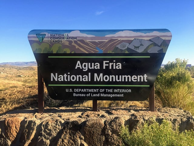 Agua Fria National Monument entrance sign
