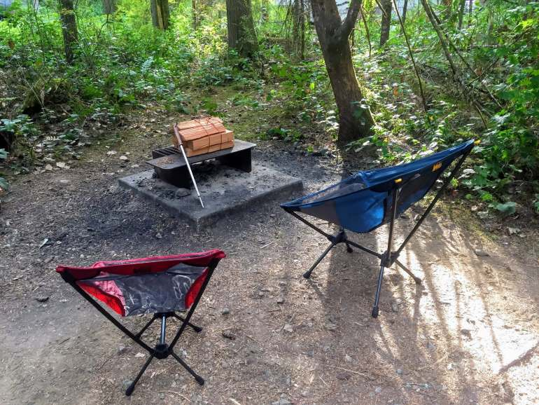 backpacking chairs firepit