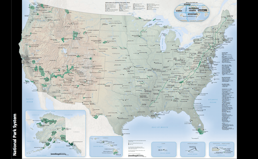 Map of National Park units