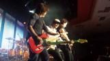 Band members having fun.