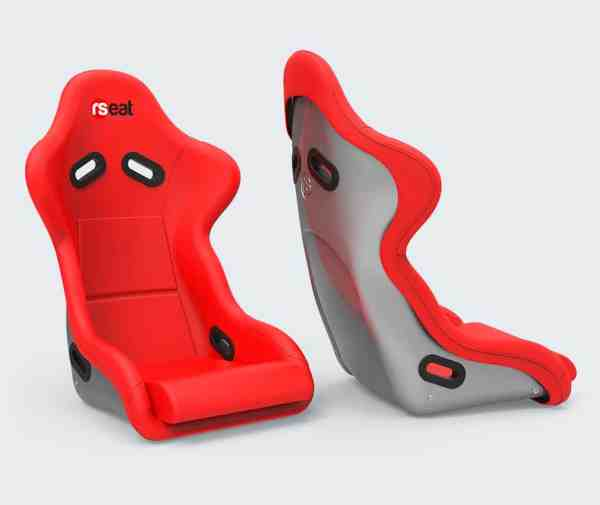 rseat n1 red silver seat