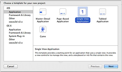 Single View Application Xcode
