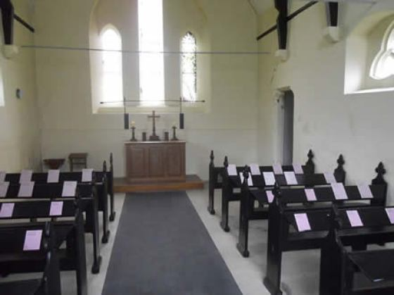Binstead Cemetery Chapel interior