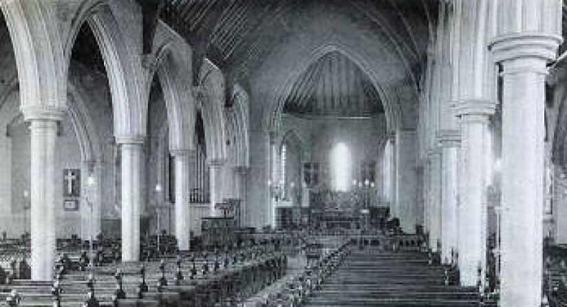 Holy Trinity Church interior 1907