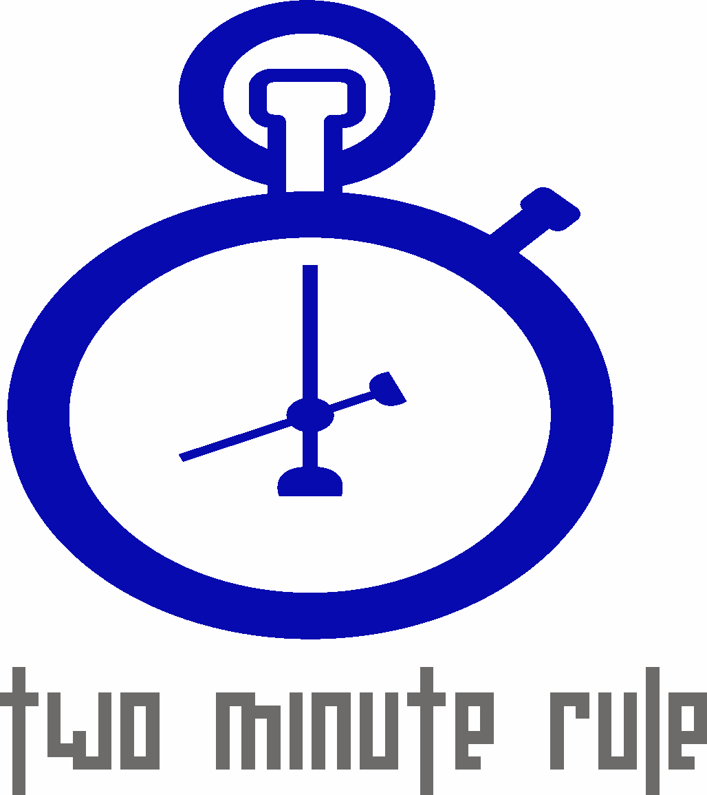 Two Minute Rule, a Productivity Blog - Logo