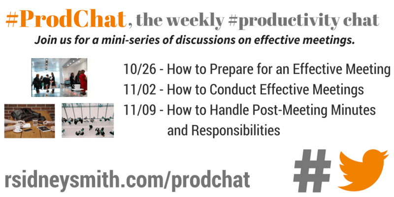 #ProdChat - Effective Meeting Series