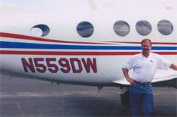 Doug White and the King Air 200
