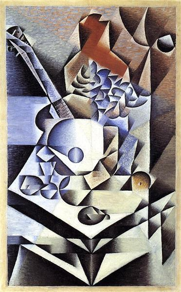 Still life with flowers 1912. Oil on canvas. Juan Gris. MOMA