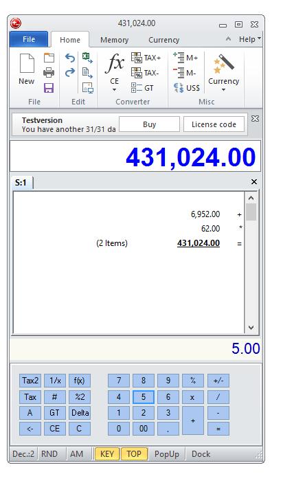 DeskCalc download