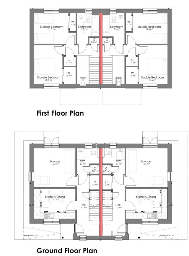 The Osprey 2 bedroom home floor plans png