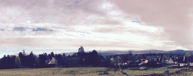 View from R S McLeod's development of new build houses, Duluth Court in Grantown-on-Spey, Highlands