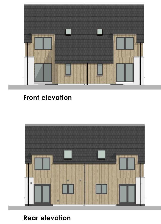 Bynack - 2 bedroom home elevations