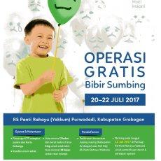 Operasi Bibir Sumbing Gratis 20-22 Juli 2017