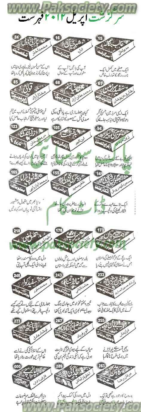 Sargazasht Digest April 2012 Fehrist