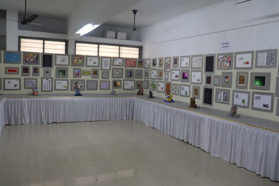 Inauguration of district level inter-school painting competition and annual art exhibition