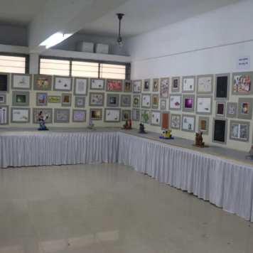Inauguration of district level inter-school painting competition and annual art exhibition (5)