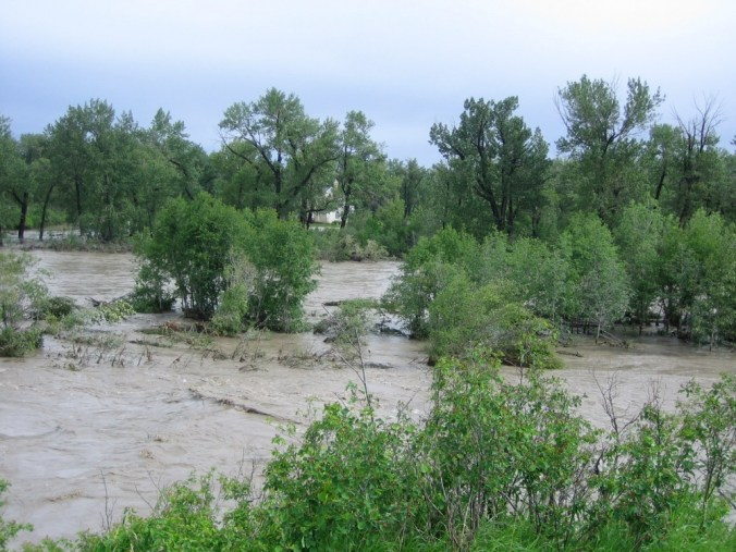 Flooding in Southern Alberta (Sheep River, 2004)
