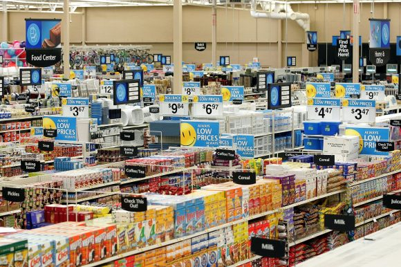 Walmart supports the American Red Cross at all Walmart and Sam's Club stores across the U.S. through its register campaign that matched dollar-for-dollar customer donations up to $5 million. (Tim Boyle / Getty Images)