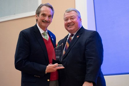 Ed Castile, director of AIDT, left, stands with Greg Canfield, secretary of the Alabama Department of Commerce. (contributed)